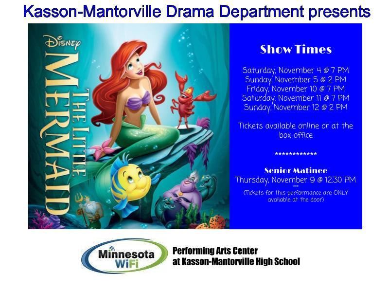 K-M Drama presents The Little Mermaid in MN WiFi PAC. Go to Buy Tickets for more information.