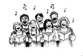 Clip art image of a choir