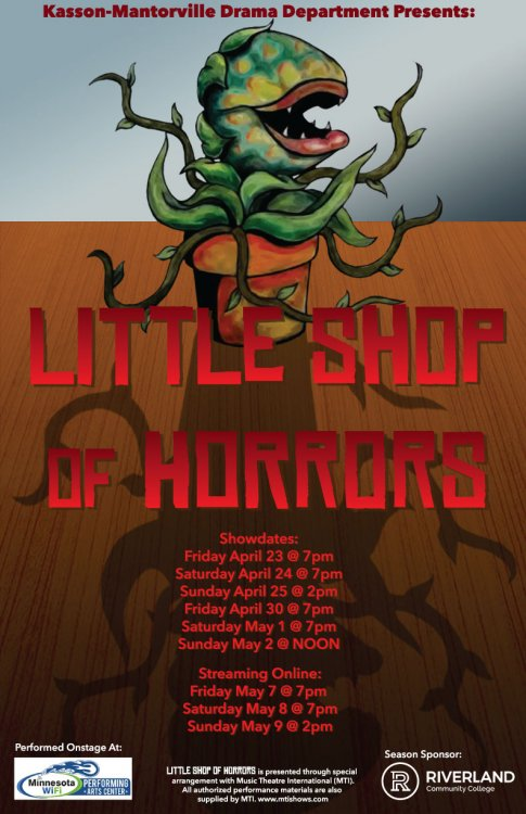 K0M Drama presents Little Shop of Horrors April 23-May 2, Streaming Online May 7-9